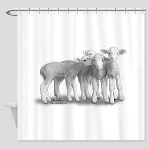 whisperlambs6 Shower Curtain