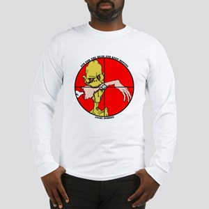 Angry Zombies-NIBBLES Long Sleeve T-Shirt
