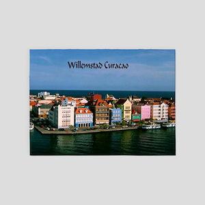 Willemstad Curacao 5'x7'Area Rug