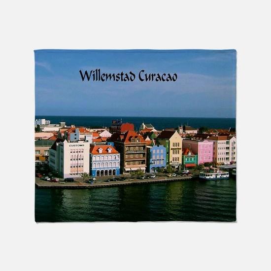 Willemstad Curacao Throw Blanket