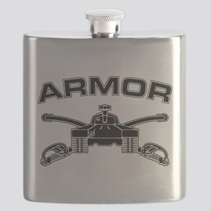 Armor Branch Insignia (BW) Flask