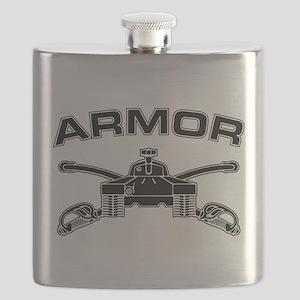 Armor Branch Insignia (BW) Flask