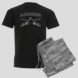 Armor Branch Insignia (BW) Men's Dark Pajamas