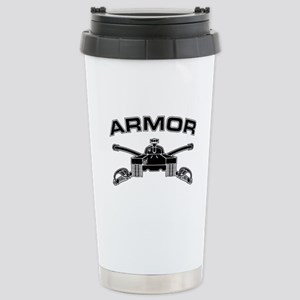 Armor Branch Insignia (BW) Stainless Steel Travel