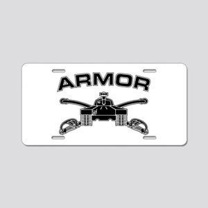 Armor Branch Insignia (BW) Aluminum License Plate