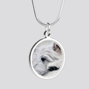 Like an Angel Silver Round Necklace