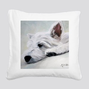 Like an Angel Square Canvas Pillow