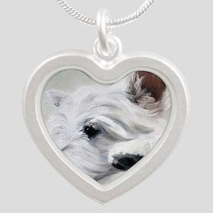 Like an Angel Silver Heart Necklace