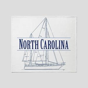 North Carolina - Throw Blanket