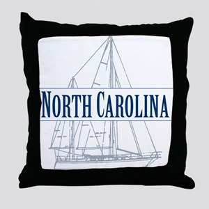 North Carolina - Throw Pillow