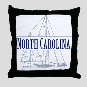 North Carolina - Throw Pillow