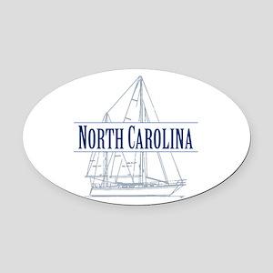 North Carolina - Oval Car Magnet