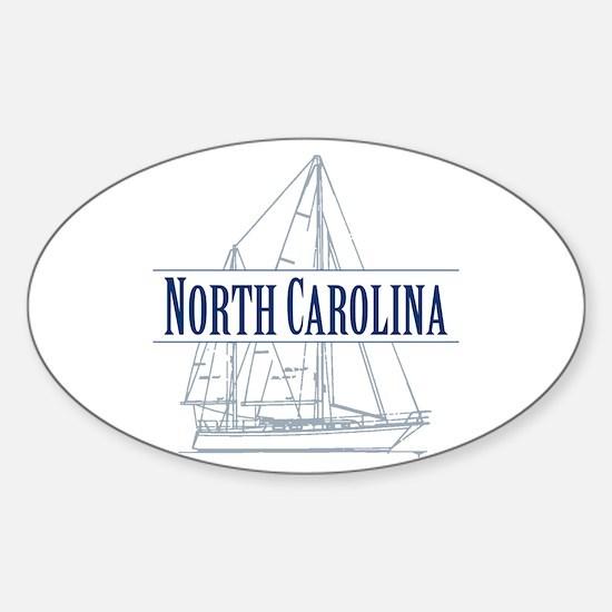 North Carolina - Sticker (Oval)