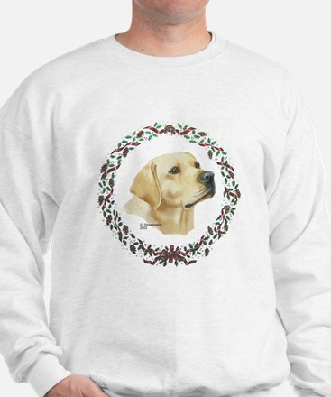 Yellow Labrador Christmas Sweatshirt