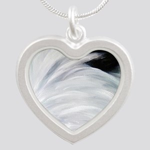 Eye See You Silver Heart Necklace