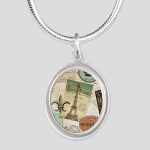 Vintage Travel collage Necklaces