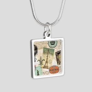 Vintage Travel collage Necklaces
