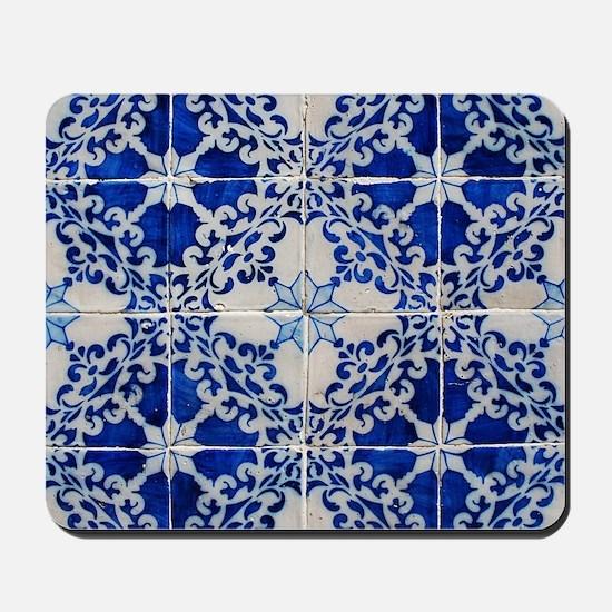 Portuguese Azulejos Mousepad