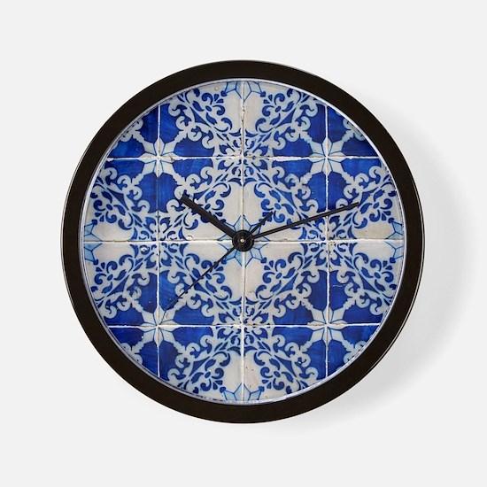 Portuguese Azulejos Wall Clock