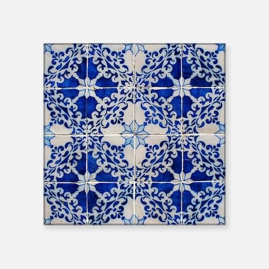 """Portuguese Azulejos Square Sticker 3"""" x 3"""""""