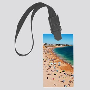 Albufeira beach Large Luggage Tag