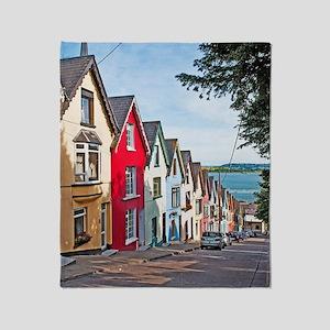 Cobh houses Throw Blanket