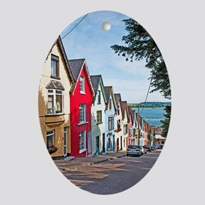 Cobh houses Oval Ornament