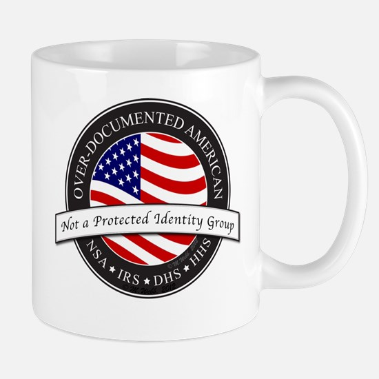 Over-Documented American large Mugs
