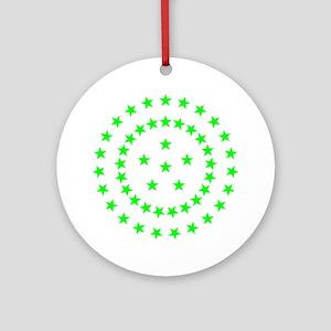 Green Starfield Ornament (Round)