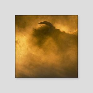 "Thunder Beast Makes Fire Square Sticker 3"" x 3"""