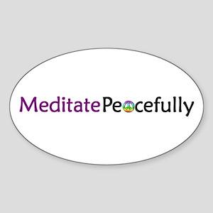 Meditate Peacefully Sticker