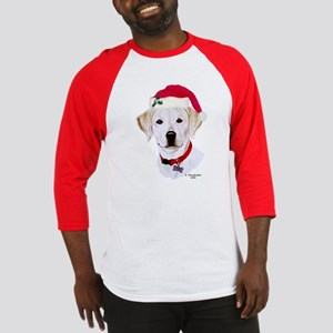 Yellow Lab Pup Xmas Baseball Jersey