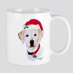 Christmas Yellow Lab Puppy Mug