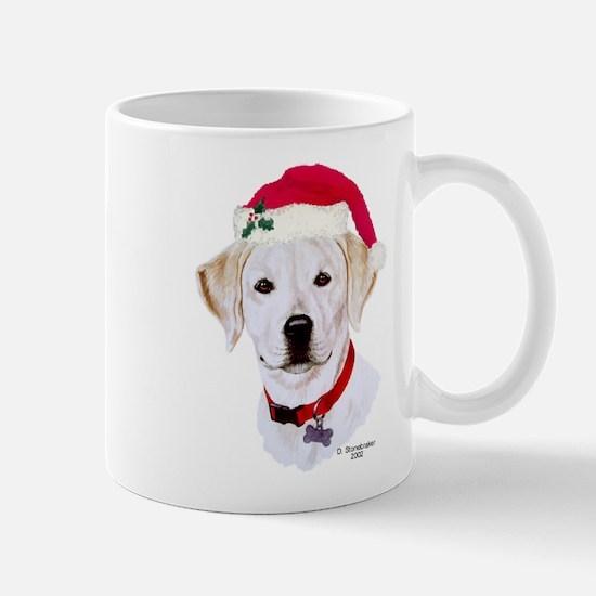 Christmas Yellow Lab Puppy Mug