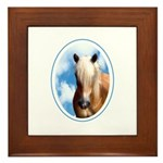 Palomino Pony Framed Tile