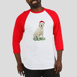 Yellow Labrador Christmas Baseball Jerse