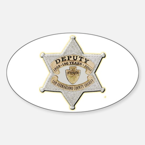 San Bernardino Sheriff Anniversary Badge Decal
