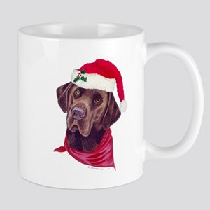 Chocolate Lab Christmas Mug