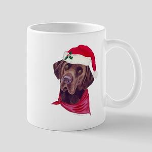 Chocolate Lab Christmas Mug