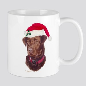 Chocolate Labrador Christmas Mug