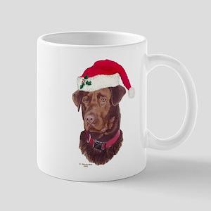 Chocolate Labrador Christmas Mug