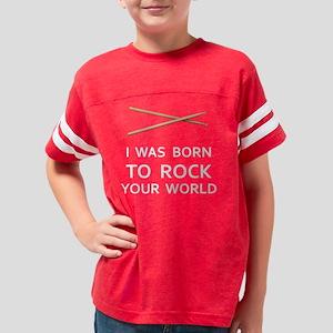 10x10-Perc-RockYourWorld-DRK Youth Football Shirt