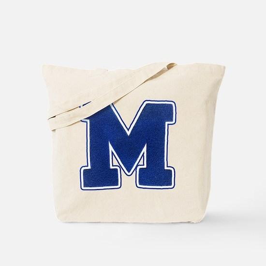 """Varsity """"M"""" Tote Bag"""