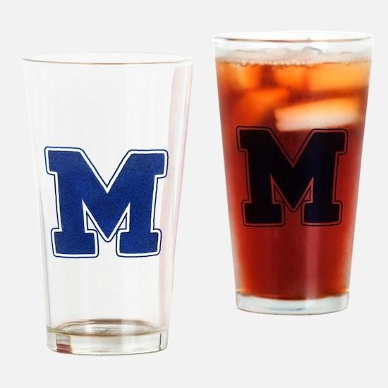 "Varsity ""M"" Drinking Glass"