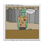 Zombie Dry Cleaners Tile Coaster