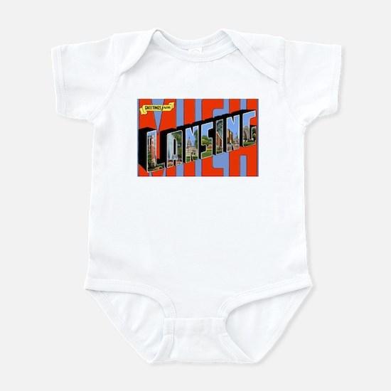 Lansing Michigan Greetings Infant Bodysuit