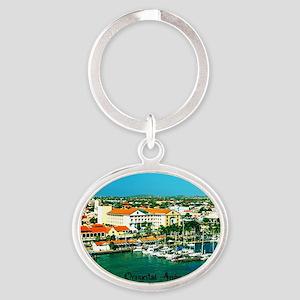 Orenjestad Aruba Oval Keychain