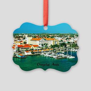 Orenjestad Aruba Picture Ornament