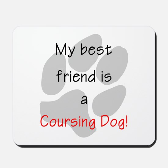 My best friend is a Coursing Dog Mousepad