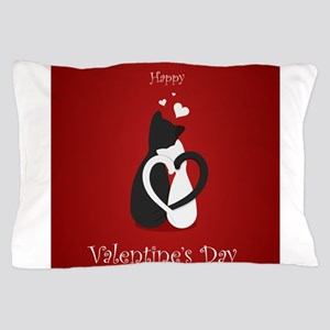 Cute Valentine's Day Cats Love Pillow Case